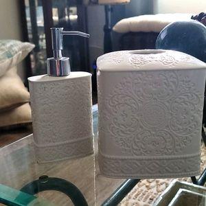 Tissue holder/Soap dispenser